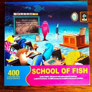 Springbok Family Puzzle 400 Pieces School of Fish